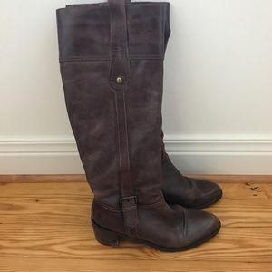 Aldo Dark Brown Leather Boots